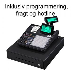 Casio SE-C450MB kasseapparat inkl. programmering, fragt og hotline