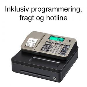 Casio SE-S100S-GD kasseapparat inkl. programmering, fragt og hotline