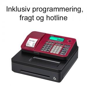 Casio SE-S100S-RD kasseapparat inkl. programmering, fragt og hotline
