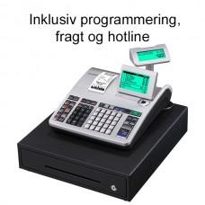 Casio SE-S400MB kasseapparat inkl. programmering, fragt og hotline