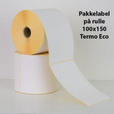 Pakkelabel 100x150  - 25,4mm kerne  - Termo Eco - 500 fragtlabels/rulle