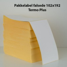 Pakkelabel 102x192 - Falsede - Termo Plus - 2000 fragtlabels/kasse