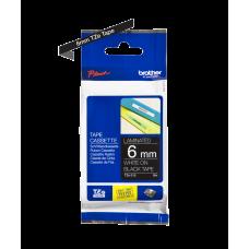 Brother TZe315 tape – hvidt print på sort tape - 6 mm x 8 meter - Original TZe-315 tape