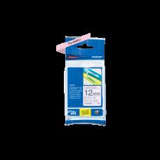 Brother TZeMQE31 tape – sort print på pastelpink tape - 12 mm x 4 meter - Original TZe-MQE31 tape