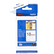 Brother TZeN241 tape – sort print på hvid tape - 18 mm x 8 meter - Original TZe-N241 tape