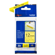 Brother TZeS631 tape – sort print på gul tape - 12 mm x 8 meter - Original TZe-S631 tape