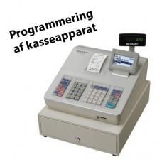 Programmering af Sharp kasseapparat